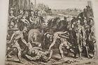 GRAVURE SUR CUIVRE MORT D'ANTIOCHUS-BIBLE 1670 LEMAISTRE DE SACY (B170)