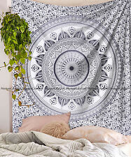 Indian ombre mandala large tapestry cotton bohemian bedspread wall hanging throw