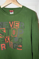 Mens THE NORTH FACE t shirt. Long sleeve. Green. Size XL