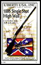 1998 Uberti 1885 Single Shot Jigh Wall Rifle Print Ad