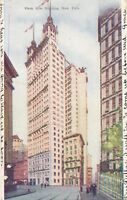 NEW YORK CITY – Park Row Building Glitter Covered Postcard – udb (pre 1908)