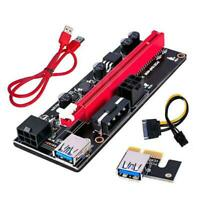 2/5/10Pcs VER009S PCI-E Riser Card PCIe 1x to 16x USB 3.0 Data Cable Bitcoin