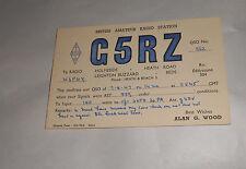 Vintage 1947 QSL Amateur Radio Card G5RZ Leighton Buzzard Bedfordshire England
