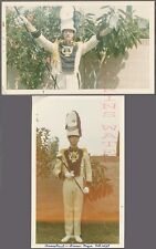 Vintage Photos Drum Major Man in Letter M for Marching Band Uniform 741877