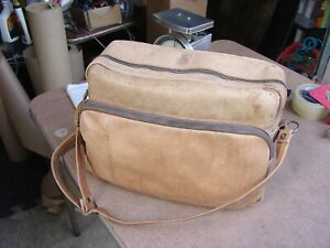 Vintage Soft Leather Camera Bag with Dividers 15 x 10 x 7