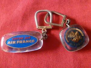 LOT 2 X PORTE CLE BOURBON  .AIR FRANCE CARGO JET / AIR FRANCE CREVETTE