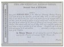 Utica and Schenectady Railroad Company Stock Certificate (1840's)