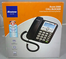 Binatone Acura 3000 Corded Home Phone Telephone Answering Machine + Call Blocker
