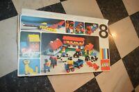 RARE ANCIENNE BOITE LEGO 8  COFFRET BATIMENT  MAISON ET VEHICULES VINTAGE 1975