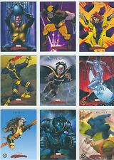 Marvel Masterpieces 2007 Complete X-Men Chase Card Set X1-X9