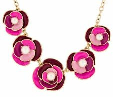 Kate Spade Deco Rose Pink Necklace NWT Gorgeous Pearl & Pinks Petal Blosssoms