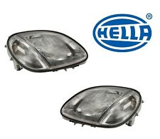 NEW Mercedes R170 SLK Class Set of Left and Right  Headlight Assembly OEM HELLA
