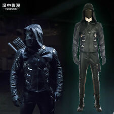 HZYM Latest Green Arrow 5 Prometheus Cosplay Costume Leather Full Suit Any Size