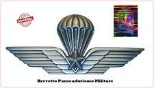 Spilla Brevetto Giacca Paracadutismo Paracadutista Militare Parà 7x3.50 Folgore