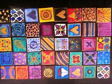 Azulejos de mosaico pintado a mano Decorativo 16 Varios Diseños Para Manualidades