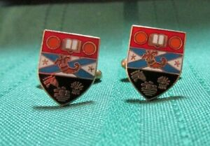 Interesting enamelled coat of arms cufflinks