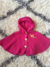 Rocawear Baby Girl Infant Size 18 Months Pink Pullover Terry Cloth Cotton Poncho
