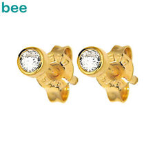 Round Diamond 9ct 9k Solid Yellow Gold Stud Earrings 50116/B15