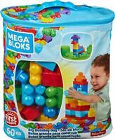 Sac Bleu jeu de Blocs de Construction Pour Bebe et Enfant de 1 à 5 ans