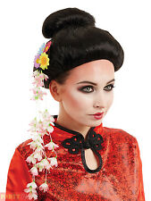 Ladies Oriental Wig Womens Chinese Japanese Geisha Fancy Dress Costume Accessory
