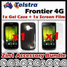 Telstra Frontier 4G Telstra Soft Jelly TPU Gel iSkin Case Cover Screen Protector