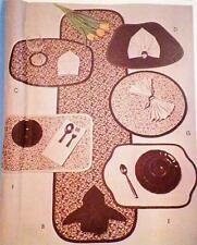 Table Linen Sewing Pattern Craft Package Table Runner Place Mats Bread Basket &