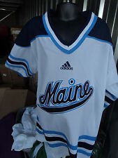 Adidas Maine Black Bears Premier Sewn Youth White Hockey Jersey NWT L/XL