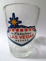 LAS VEGAS NEVADA WELCOME TO FABULOUS LAS VEGAS CLEAR  SHOT GLASS SHOTGLASS