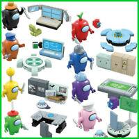 Among Us Game 8Pcs/set Crewmate Minifigures Blocks Action Figures Kids Toys