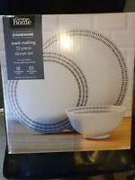 George home stoneware 12 Piece Dinner Set - White