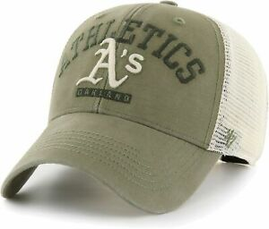 OAKLAND A'S MLB GREEN SNAPBACK BRAYMAN TRUCKER RELAXED CAP HAT NWT! '47 BRAND