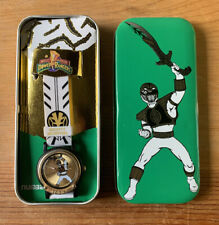 ?Mighty Morphin Power Rangers White Collector Series Quartz Analog Watch?