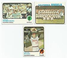 1973 Topps Lot of 11 California Angels #175 Frank Robinson 220 Nolan Ryan 243 TC