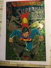 Superman Back for Good #82 chrome foil cover MINT