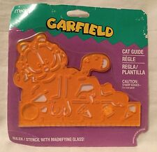 NEW Mead Garfield Cat Guide Ruler / Stencil With Magnifying Glass