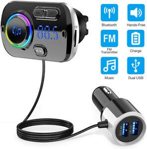 Handsfree Bluetooth FM Transmitter Wireless Radio Adapter Car Kit USB Mp3 Player
