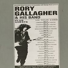 RORY GALLAGHER - CONCERT POSTER U.K. TOUR 1988  LONDON MANCHESTER  (A3 SIZE)