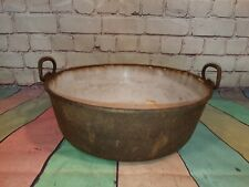 Antique Cast iron Victorian Edwardian Gypsy Cooking Cauldron Pan Enamel Baldwin