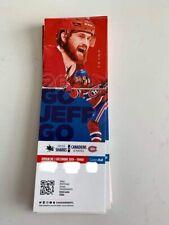 unused season hockey tickets Canadiens featuring Jeff Petry dec 2 2018/2019