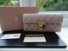 100% Authentic Miu Miu Nude/Beige Quilted Leather Purse Wallet BNIB