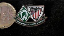 Futbol pin badge werder bremen atletico de Bilbao Europa League 2009