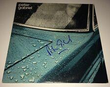PETER GABRIEL Hand Signed CAR /P.G. One LP Vinyl Autograph Record PROOF JSA COA