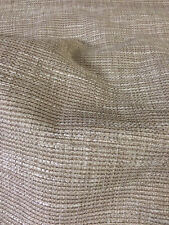 Dark Natural Boucle Weave Heavy Upholstery Fabric. By NEXT