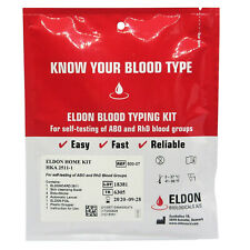 1 x Blood Type Test Kit Eldon Home Blood Group Testing Kit - CE Marked