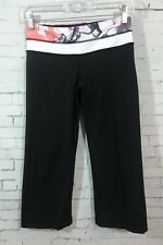 Lululemon Groove Crops 6 Unicorn Tears Reversible Black Capri Length Smoke Print