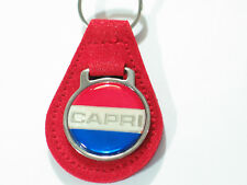 Ford Capri Keychain Key Fob Vintage Suede Choice of color (1) keychain
