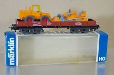 MARKLIN MäRKLIN 4474 DB GOODS WAGON 247-4 & WIKING TRACTOR & BULLDOZER LOAD ne