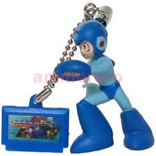 Megaman Rockman Keychain Figure Earphone Jack BLUE MEGAMAN BLUE Cartridge Capcom