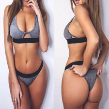 Sexy Women Bikini Set Push-up Bra Bandage Swimsuit Swimwear Bathing Suit Dress L