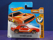 Hot Wheels '70 PLYMOUTH AAR CUDA in RED - 2016 HW Muscle Mania. 5/10. Short Card